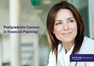 Postgraduate courses in Financial Planning Brochure